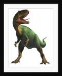 Saurophaganax maximus, a prehistoric era dinosaur. by Sergey Krasovskiy