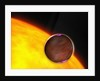 A close-up of an extrasolar planet passing in front of a Sun-like star. by Anonymous