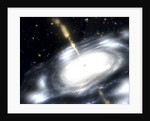 A rare galaxy that is extremely dusty, and produces radio jets by Anonymous