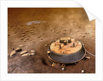 Artist's concept of the area surrounding the Huygens landing site. by Anonymous