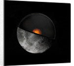 Artist's concept showing showing a possible inner core of the Earth's moon. by Anonymous