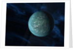 Artist's concept of Kepler 22b, an extrasolar planet found to orbit the habitable zone. by Anonymous
