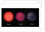 Artist's concept of brown dwarfs as seen by an interstellar traveler. by Anonymous
