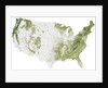 Map of the United States showing the concentration of biomass. by Anonymous