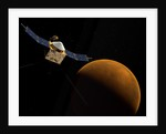 Artist's concept of NASA's MAVEN spacecraft. by Anonymous