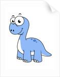 Cute illustration of a Brontosaurus. by Stocktrek Images