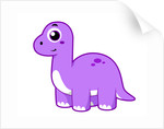 Cute illustration of a Brontosaurus dinosaur. by Stocktrek Images