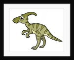 Cute illustration of a Parasaurolophus dinosaur. by Stocktrek Images