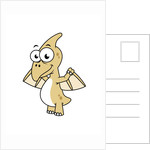 Cute illustration of a pterodactyl. by Stocktrek Images