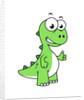 Cute illustration of Tyrannosaurus Rex. by Stocktrek Images