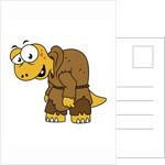 Cartoon illustration of a dinosaur hunchback. by Stocktrek Images