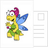 Cartoon illustration of a fairysaur dinosaur. by Stocktrek Images