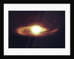 Implosion of a Sun with visible solar system and planets. by Tomasz Dabrowski