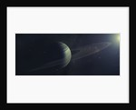 Gas giant orbiting Sirius star along with four moons. by Tomasz Dabrowski