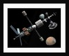 A manned Mars cycler space station approaches the planet Mars. by Walter Myers