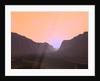 Illustration of a martian sunrise from within a deep canyon. by Walter Myers