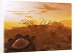 Artist's concept of animal and plant life on an alien planet. by Walter Myers