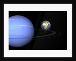 Artist' concept of Neptune and Earth. by Walter Myers