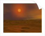 Artist's concept of Teide 1 from the surface of a hypothetical Mars-like planet. by Walter Myers