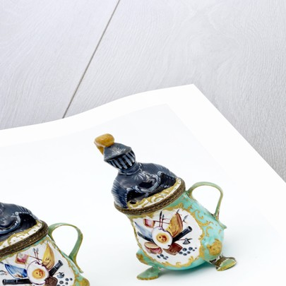 Decorative mustard pots by unknown