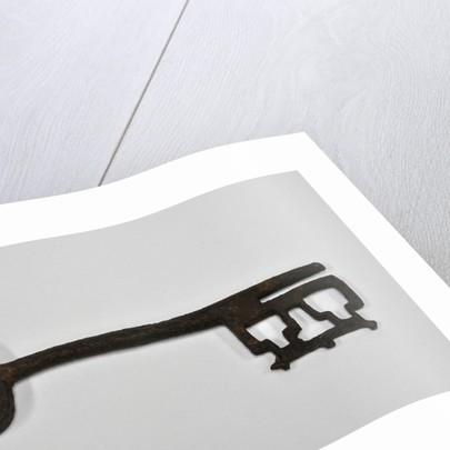 Mediaeval iron key by unknown