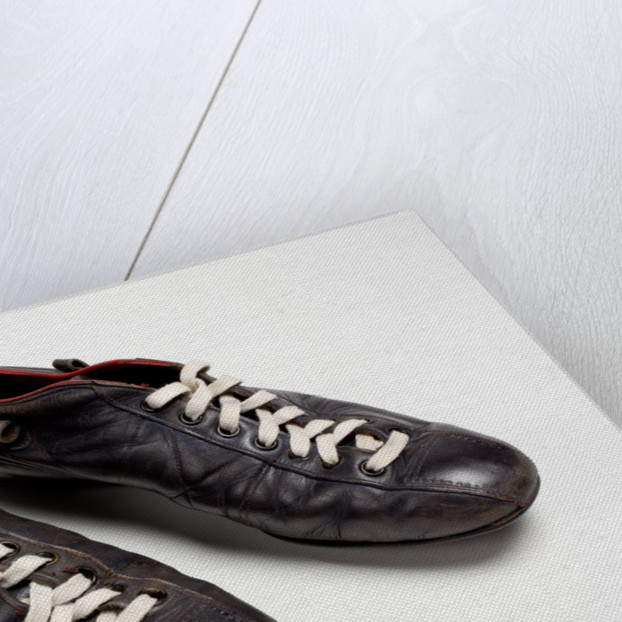 Rugby football boots, c.1970 by unknown