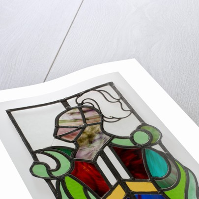 Stained glass window with a knight motif, from the Woolpack Inn, Walsall by unknown
