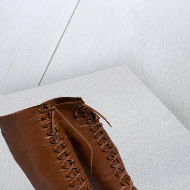 Women's boots with brogueing decoration by unknown