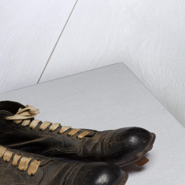 Studded football boots, c.1940 by unknown