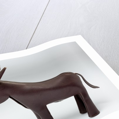 Prototype leather donkey developed for the American Democratic Party, c.1955 by unknown