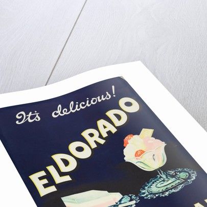 Eldorado Pure Ice Cream poster, printed by Walsall Lithographic Company Limited, 1950s by unknown