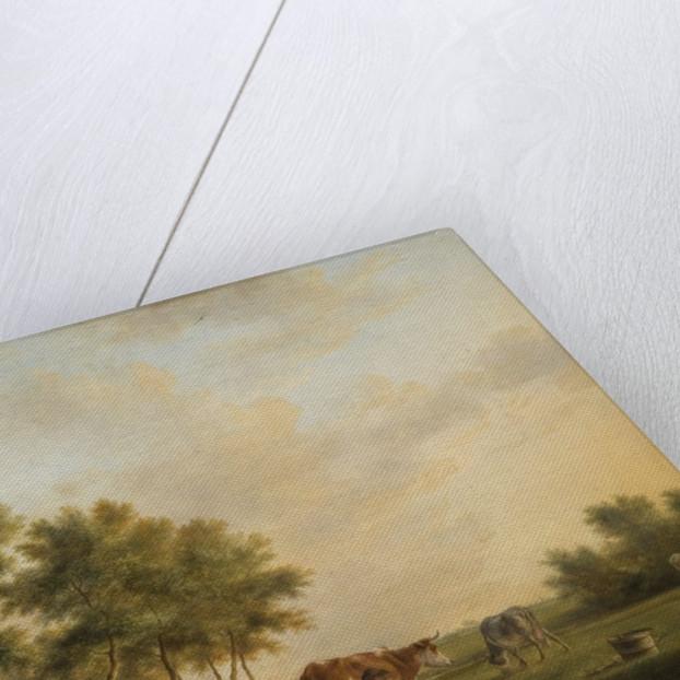 Dutch Landscape with Cattle by Johannes Le Vieux Janson