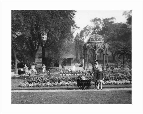 Mother with children, Hickman Park, Bilston, circa 1950 by unknown