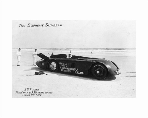 Sunbeam Land Speed Record Car, 1927 by unknown