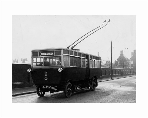Trolleybus, Wolverhampton Road, Wednesfield, 1923 by unknown