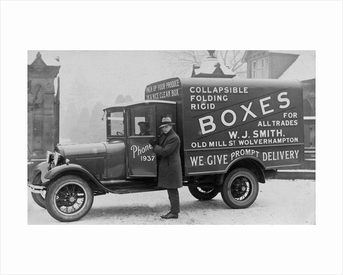 Delivery van, W J Smith (Wolverhampton) Ltd, Early 20th century by Anonymous