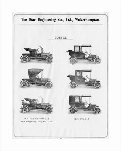 Body Designs, Star Engineering Co. Ltd., 1910 by unknown