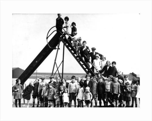 Children, Greenway Playing Fields, Bradley, Bilston, 1930 by unknown