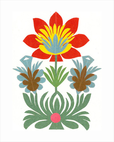 Traditional Cut Paper: Flower Design by unknown