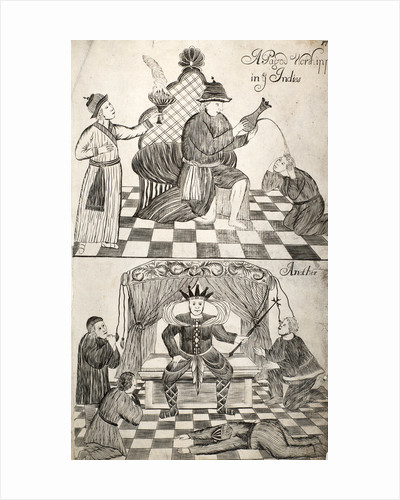 Pattern Book: Traditional Worship scene, 1688 by unknown