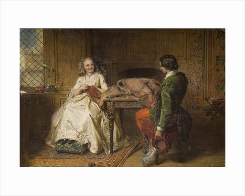 Catherine Seyton and Roland Graeme from Walter Scott's 'Abbot', 1863 by John Faed
