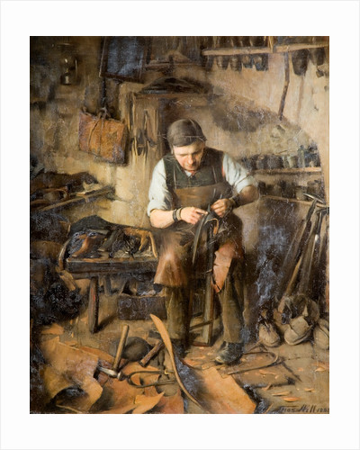 The Village Cobbler (Codsall), 1885 by Thomas Hill