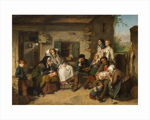 Sunday in the Backwoods (The Backwoods in America), 1840 - 1859 by Thomas Faed