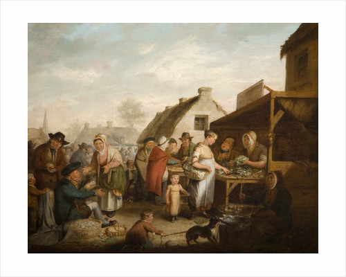 The Scottish Market Place, 1818 by unknown