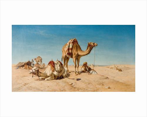 A Halt in the Desert, 1867 by William Luker