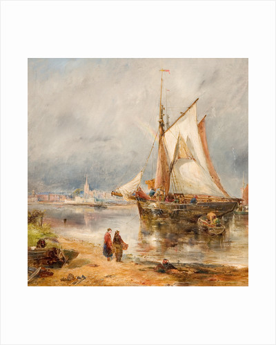 Fishing Boats in an Estuary, Early 20th Century by William Joseph Julius Ceasar Bond