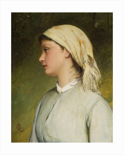 Portrait Study, Late 19th century by Charles Siilem Lidderdale