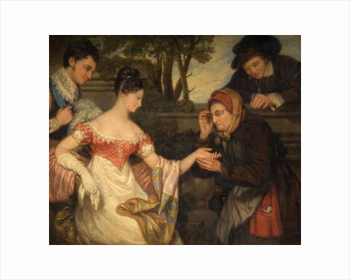 The Fortune Teller, 19th century by Edward Villliers Rippingille