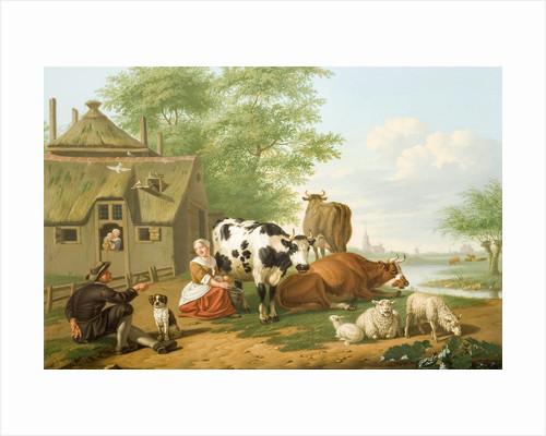 Cattle in Meadow (Milking in Summer), 1700 - 1763 by Jan Van Gool