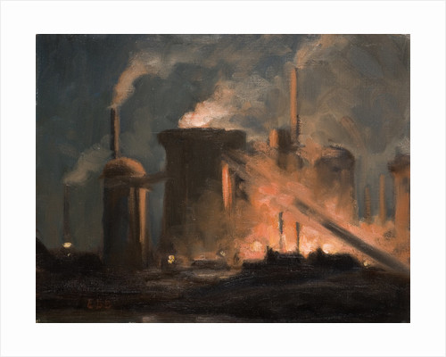Blast Furnaces, Night by Edwin Butler Bayliss